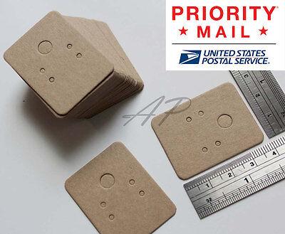 Wholesale 1000pc Small Blank Earrings Jewelry Display Card In Brown Kraft Paper