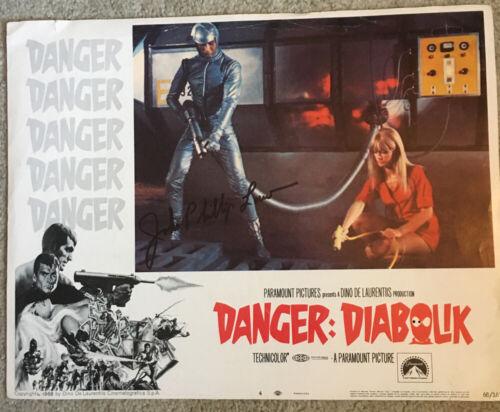 Original DANGER DIABOLIK Lobby Card SIGNED BY JOHN PHILLIP LAW from 1968 Card #4