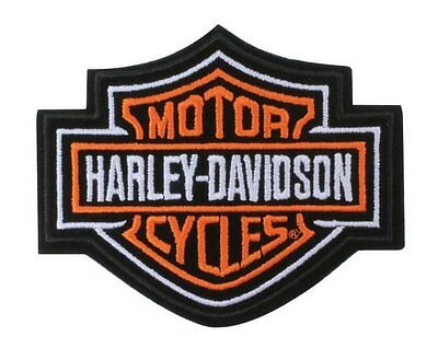 Harley Davidson Classic Orange Motorcycle Patch Logo Iron On Patches Bar Shield