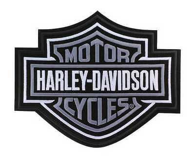 Harley-Davidson Silver Bar & Shield Patch 2XL 9 1/4'' x 7 11/16'' EMB302546