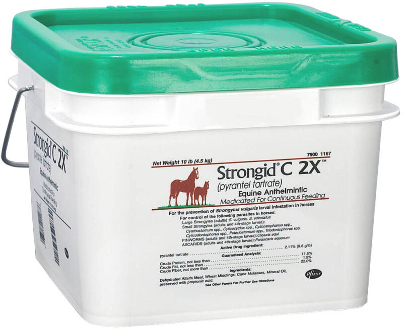Strongid C2x Dewormer For Horses Provides 80 Days Of Prevention
