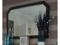 Large dark wood mirror good condition for sale Washington collection only.