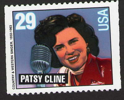 US. 2777. PATSY CLINE 1932-63. COUNTRY & WESTERN SINGER. BOOKLET SINGLE. MNH