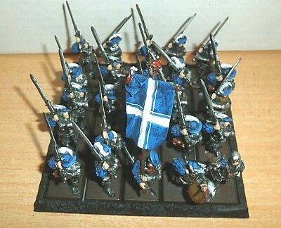 25 GW WHF Empire Metal Empire Greatswords  WITH COMMAND PRO PAINTED