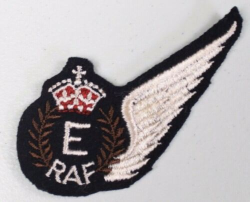 WWII British Flight Patch Royal Canadien Air Force E Flight Engineer Wool Wing 2