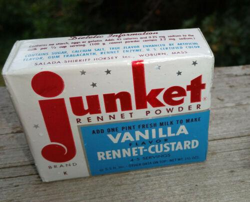 NOS Vintage Junket Rennet Powder Vanilla Custard Full Sealed Product