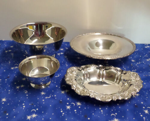 Vintage silver plated bowls