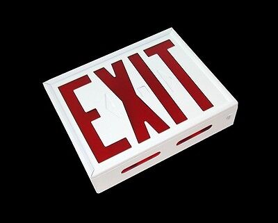 Carpenter Lighted Exit Sign Single Sided 120 Vac Model Adx-1
