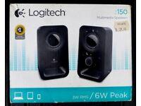 LOGITECH Z150 Multimedia 2.0 PC Speakers Black - Sealed