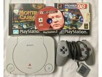 SONY PLAYSTATION 1 SLIM CONSOLE SCPH-102 PS1 PSONE RETRO SPARES REPAIRS WORKING