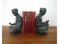 Austin Sculpture, Mathematician and Scribe, bookends.