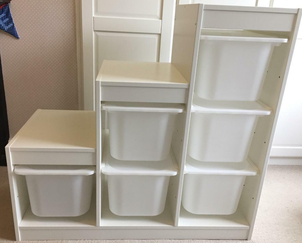 Ikea Trofast Storage Unit with Storage boxes
