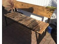 Superb, Rustic Elm Bench, New / Boxed