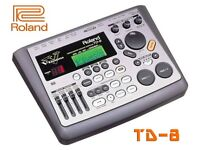 TD-8 module w/ V Expressions upgrade pack, power supply ROLAND V DRUMS brain interface full midi