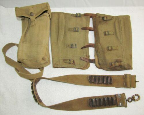 WW1 Canadian Ammo Belt/WW2 British Leggings/Cartridge Pouch.