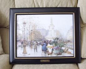 Large picture in good quality solid frame. 20 inches long by 17 inches high.Nice condition.