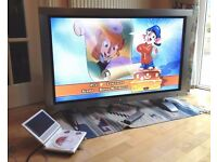 Korean made TV - XView - 42 inch Plasma with Shinco portable DVD player and TV Signal transmitter