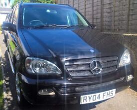 Lovely Mercedes ML270 CDI Auto, 2004, Black, 7 Seater, Diesel, Very Reliable & Well Looked After
