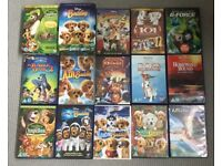 15x Disney dvd bundle films animals, dogs, pets