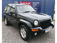2004 (54 reg), Jeep Cherokee 2.8 TD Limited 4x4 5dr SUV, AA COVER & AU WARRANTY INCLUDED, £2,495 ono