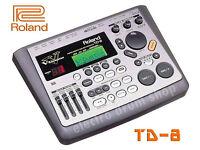 ROLAND TD-8 V DRUMS electronic brain module UPGRADED V Expressions pack & mount