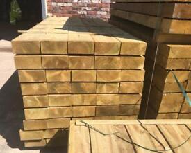 🍄 Tanalised Wooden Railway Sleepers > 190 x 90 x 2.4M