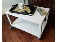 REDUCED to £15 Habitat White Metal Trolley