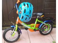 DELPHIN CHILDS BIKE WITH 12 ½ INCH WHEELS + CHILDS CYCLE HELMET