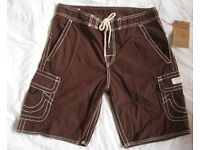 Brand New True Religion Cargo BoardShorts, size 32 and 34