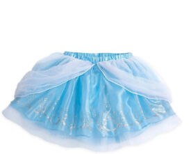 Girl Disney Store Cinderella Tutu Party Skirt Fancy Dress Costume Party Outfit size 9-10 years