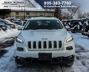 2017 Jeep Cherokee NORTH 4X4, COLD WEATHER GROUP, BLUETOOTH, TIN