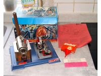 Wilesco D10 steam engine, as new and boxed