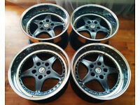 R17 3pc Splits BRAID FOLGER Cup4 Alloy wheels * 10J & 11J * OZ * BBS * BMW E36 E34 E39 M3 M5
