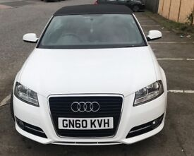 White Audi A3 Convertible 1.2 TFSI Low Mileage For Sale.