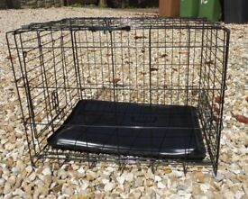 DOG CRATE CAGE VERY LITTLE USE FOR MEDIUM SIZED DOG FOLDABLE