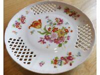 Lattice Decorative Plate Vintage 1930/40/50/60 Retro Rare!