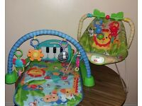 FISHER PRICE PLAY MAT & BOUNCER
