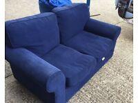 Blue 2-Seater Sofa