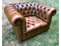 Lovely Leather Chesterfield Armchair