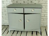 Gorgeous light grey Stag 2 door dresser sideboard with 2 drawer storage