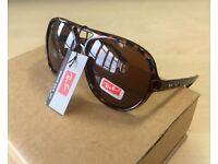 RAY-BAN sunglasses pilot aviators tortoiseshell / Alex Cats 5000 black brown ray ban rayban