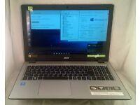 """Acer Aspire V 15. i5 5th Gen 2.7GHz. 12GB RAM. 1TB HDD. WIFI. DVD RW. BT. 15.6"""" Touchscreen. Win 10"""