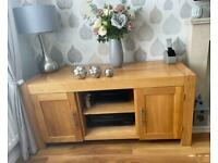 Oak TV cabinet large solid oak - Alto range