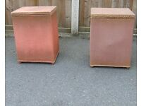 vintage retro 40`s 50`s Sirrom pair of blanket boxes bedside tables