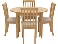 EX DISPLAY Banbury Extendable Table & 4 Chairs - Cream