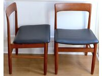 Stylish Set of 4 Vintage A. Younger teak Chairs. Delivery. Modern / Midcentury / Danish style.