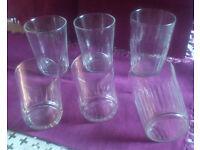 Vintage French plain glasses x 6 (50/60s): for drinks or mini-desserts (mousses, cranachans, jelly)