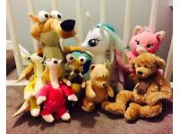 Disney/Build a Bear soft toys plus others