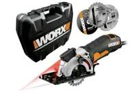 WORX WX427 XL 710W Compact Extreme Versatile Mini Circular Hand Saw Used few times