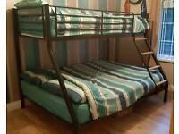Triple sleeper bed